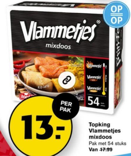 Hoogvliet Vlammetjes mix doos voor 13 euro
