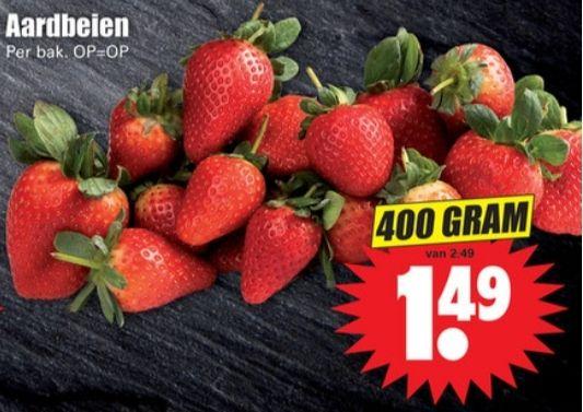 400 gram aardbeien bij Dirk van den Broek
