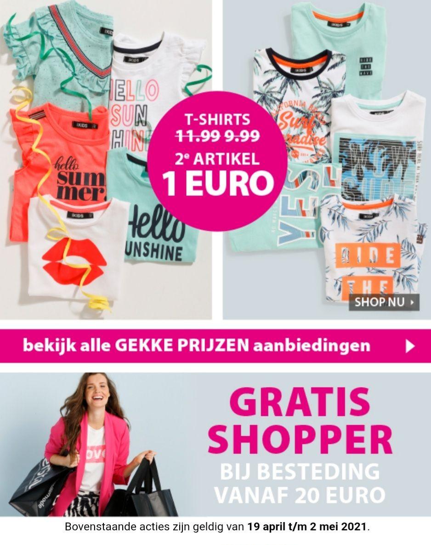 Terstal T-shirts voor jongens en meisjes 2e artikel 1 euro. Gratis shopper bij besteding vanaf 20 euro