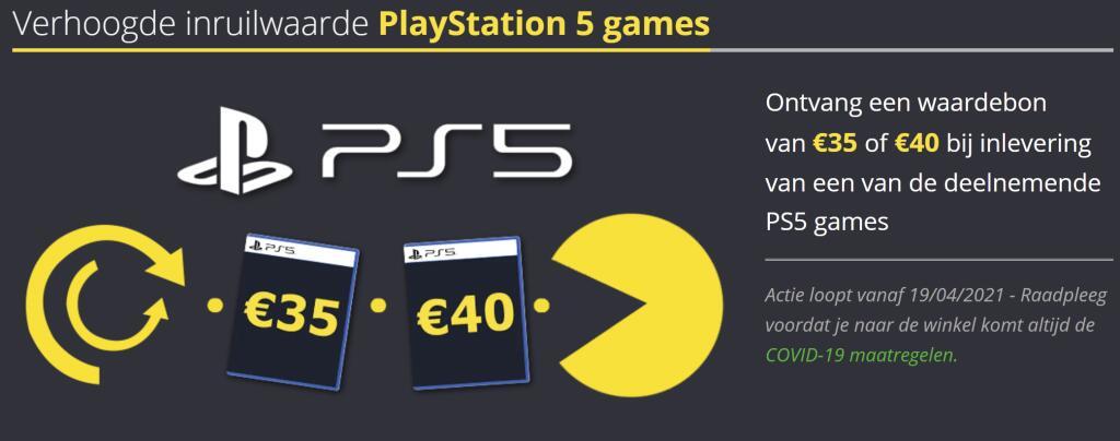 Tijdelijk verhoogde inruilwaarde van €35 en €40 op PlayStation 5 games