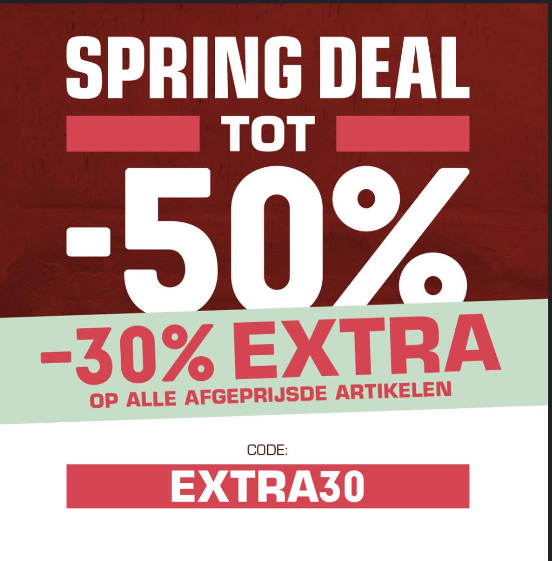 30% extra korting op Sale bij Snipes