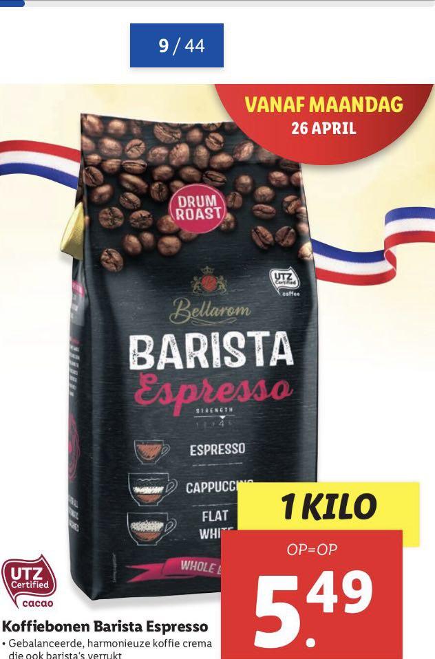 1 kilo barista expresso koffiebonen (Lidl)