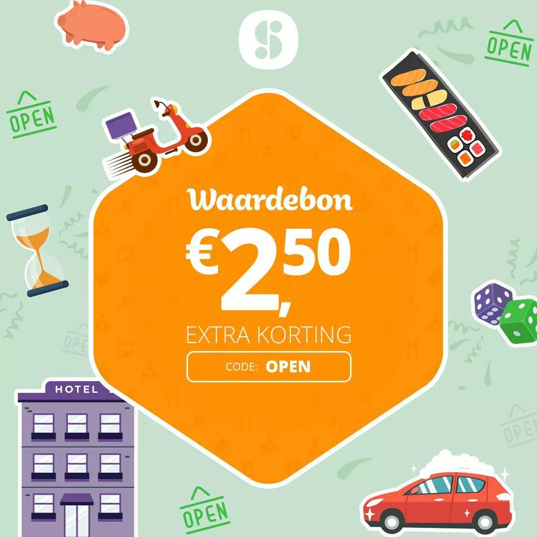 €2,50 korting bij SocialDeal