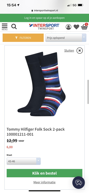 Tommy Hilfiger heren sokken twee paar voor €6,-