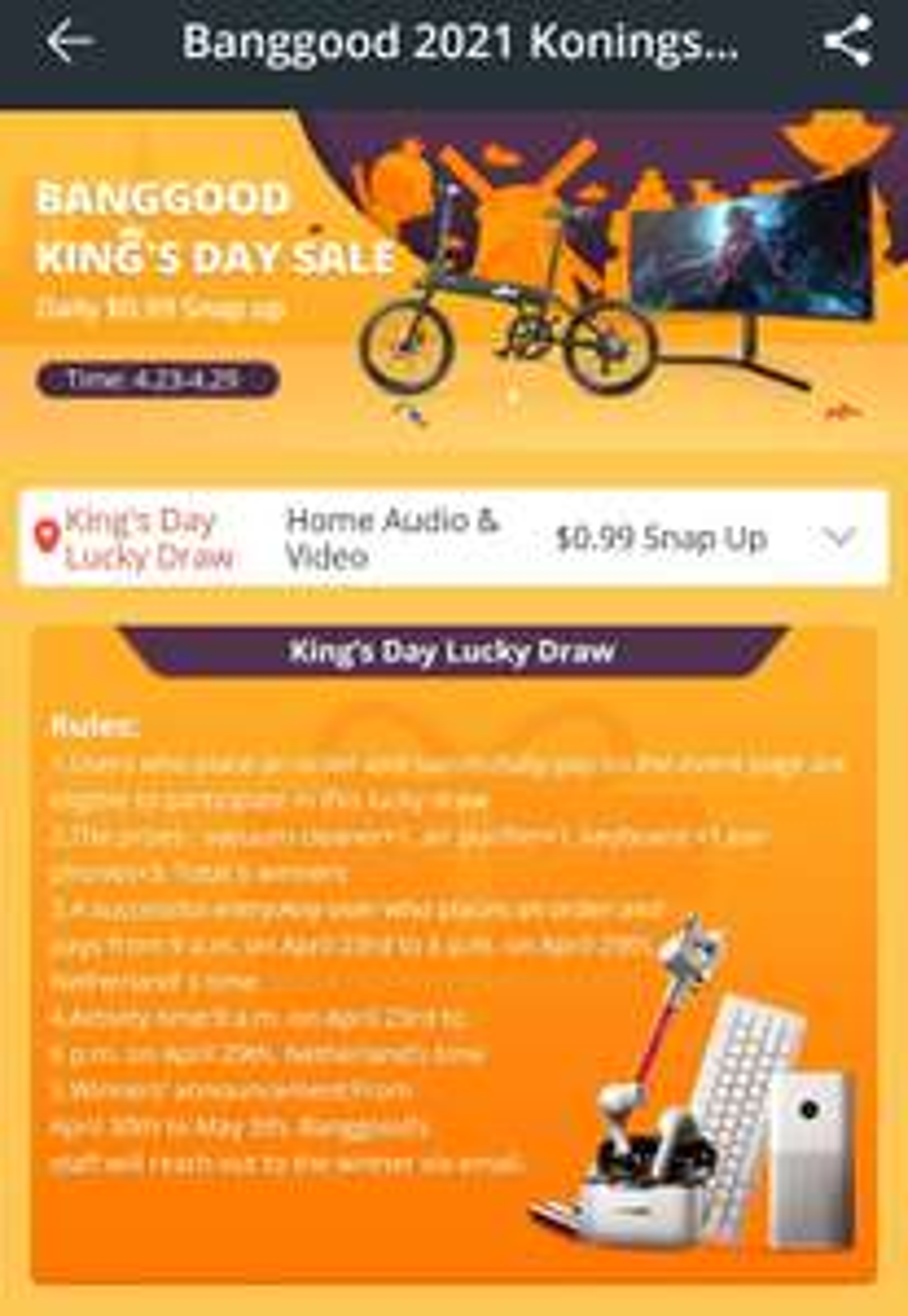 Banggood koningsdagdeals bv Xiaomi 23,8 inch&34 inch (gaming) monitors