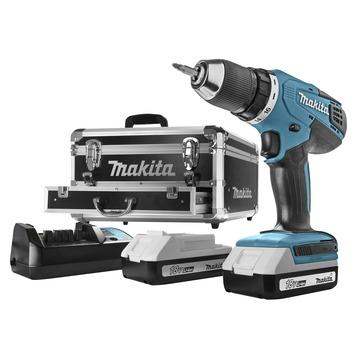 Makita accuboormachine DF457DWEX2 + 70-delige accessoireset