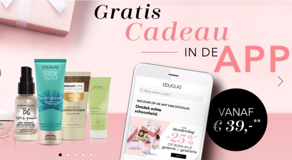 Gratis product in de Douglas App bij min besteding 39 euro @Douglas