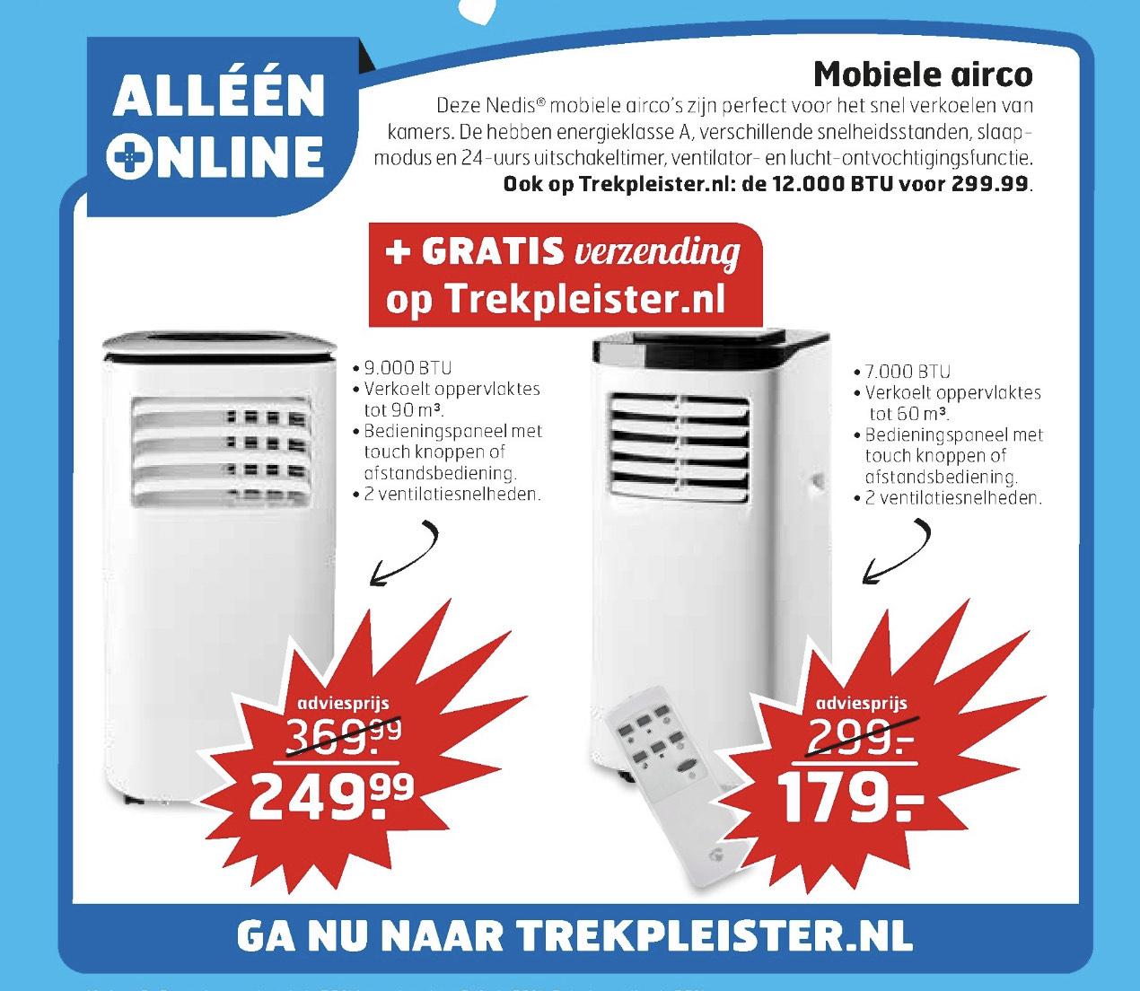 Frisse Airco deals Trekpleister.NL