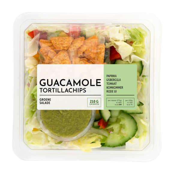 Saladeschotel Guacemole & Tortillachips 275 g voor €2,79 @ Coöp
