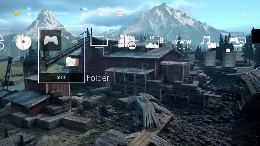 Gratis Days Gone Old Sawmill dynamic PS4 theme @ PSN
