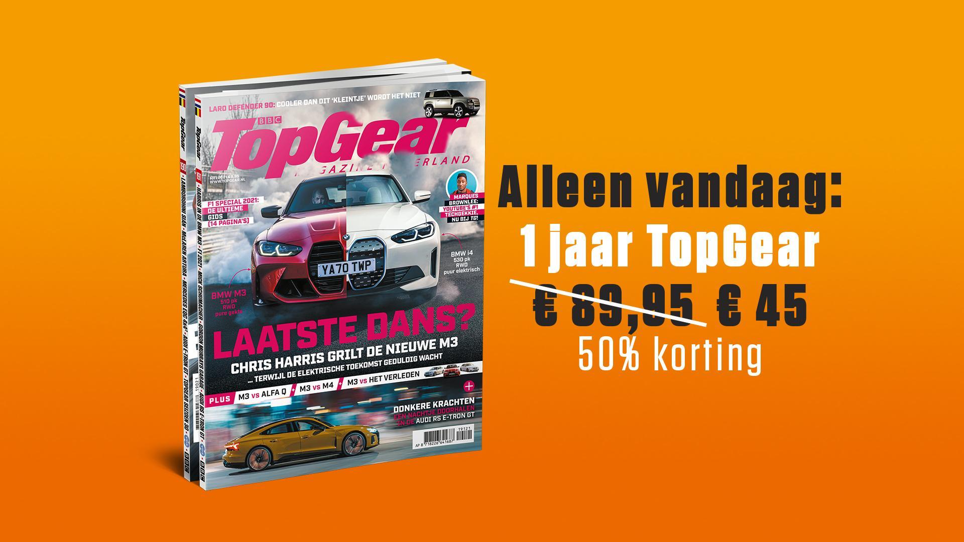 Jaar abonnement Top Gear voor €45!