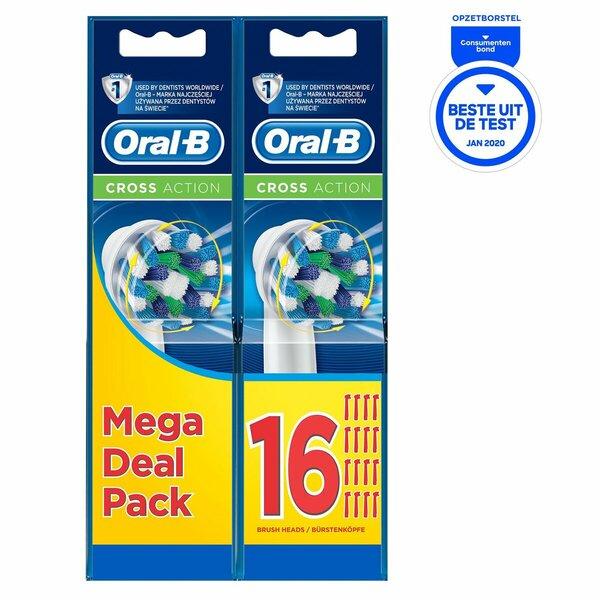 Oral-B CrossAction opzetborstels (16 stuks) + Voucher voor Draadloze Oordopjes