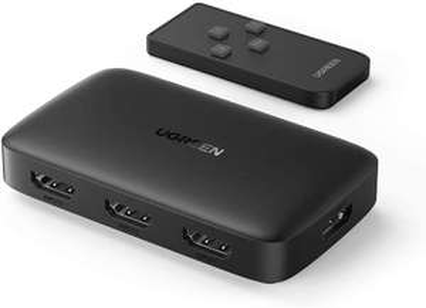 UGREEN 3-in-1 HDMI Switch 4K@30Hz voor €11,94 @ Amazon.nl