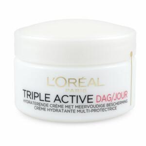 6x L'Oréal Triple Active Day Cream Droge/Gevoelige Huid 50 ml @ Plein