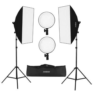 Andoer Studio fotografie Softbox LED Light Kit voor €62,89 @ TOMTOP