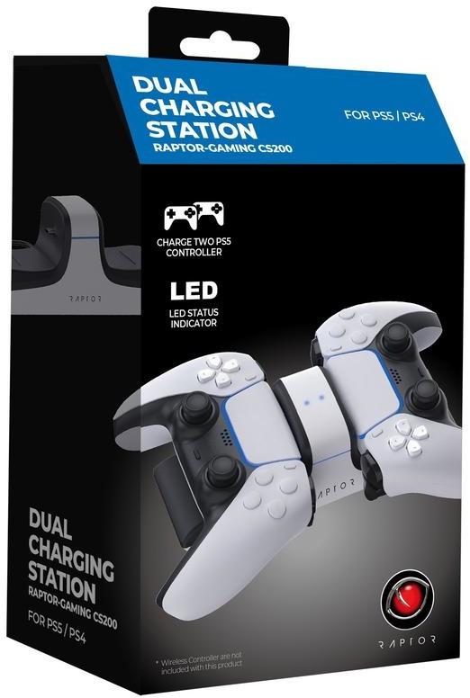 Raptor PS5 DualSense laadstation @ Amazon.nl