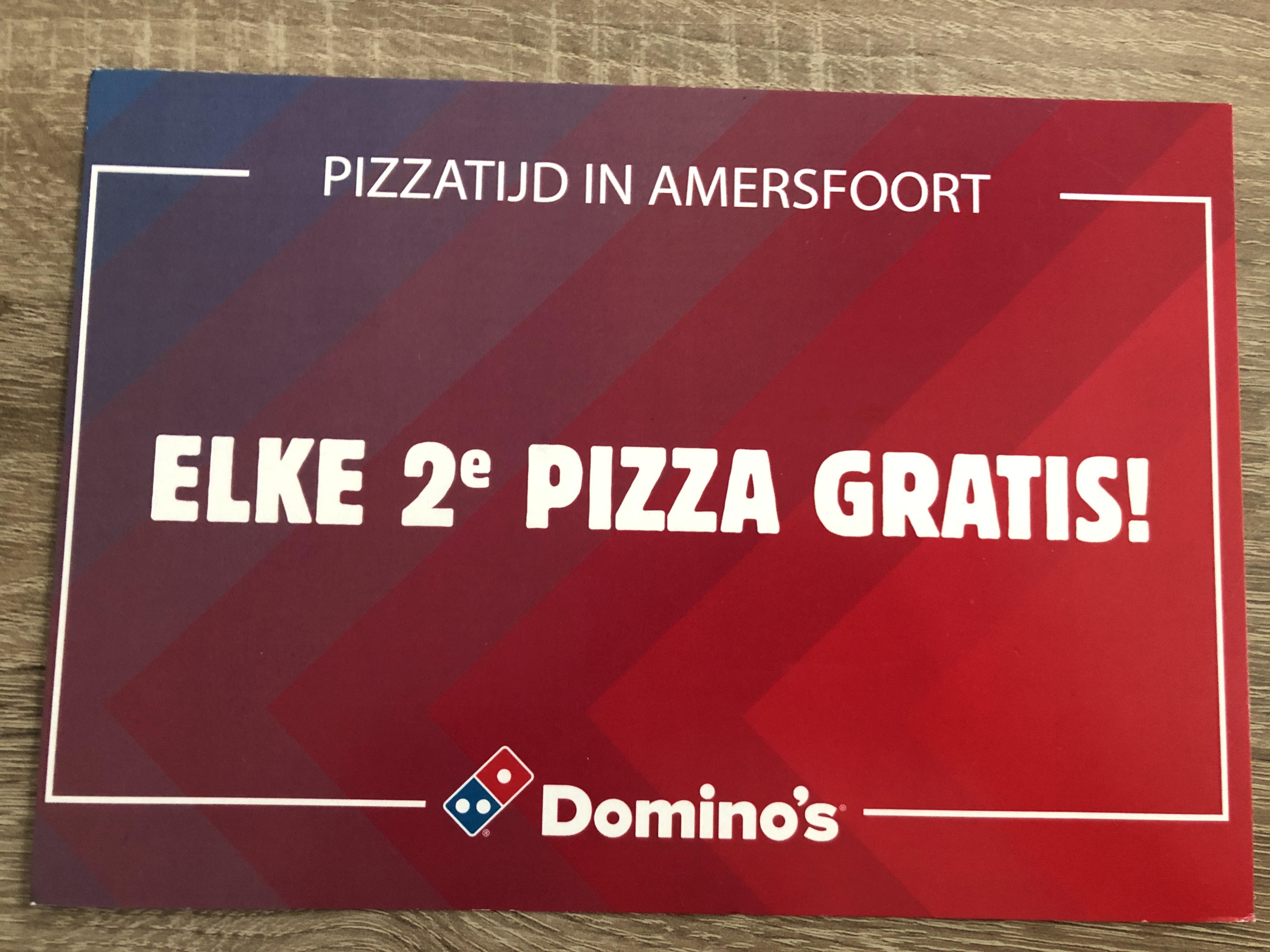 2e pizza gratis bij Domino's (ophalen en bezorgen) in Amersfoort