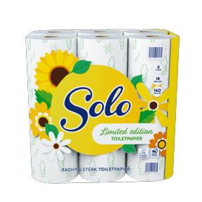 18 rollen Solo 3-laags Ecologisch Toiletpapier Limited Edition @ Aldi