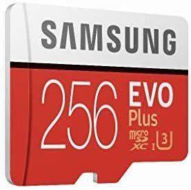 Samsung Evo Plus 256 GB microSD-kaart met adapter