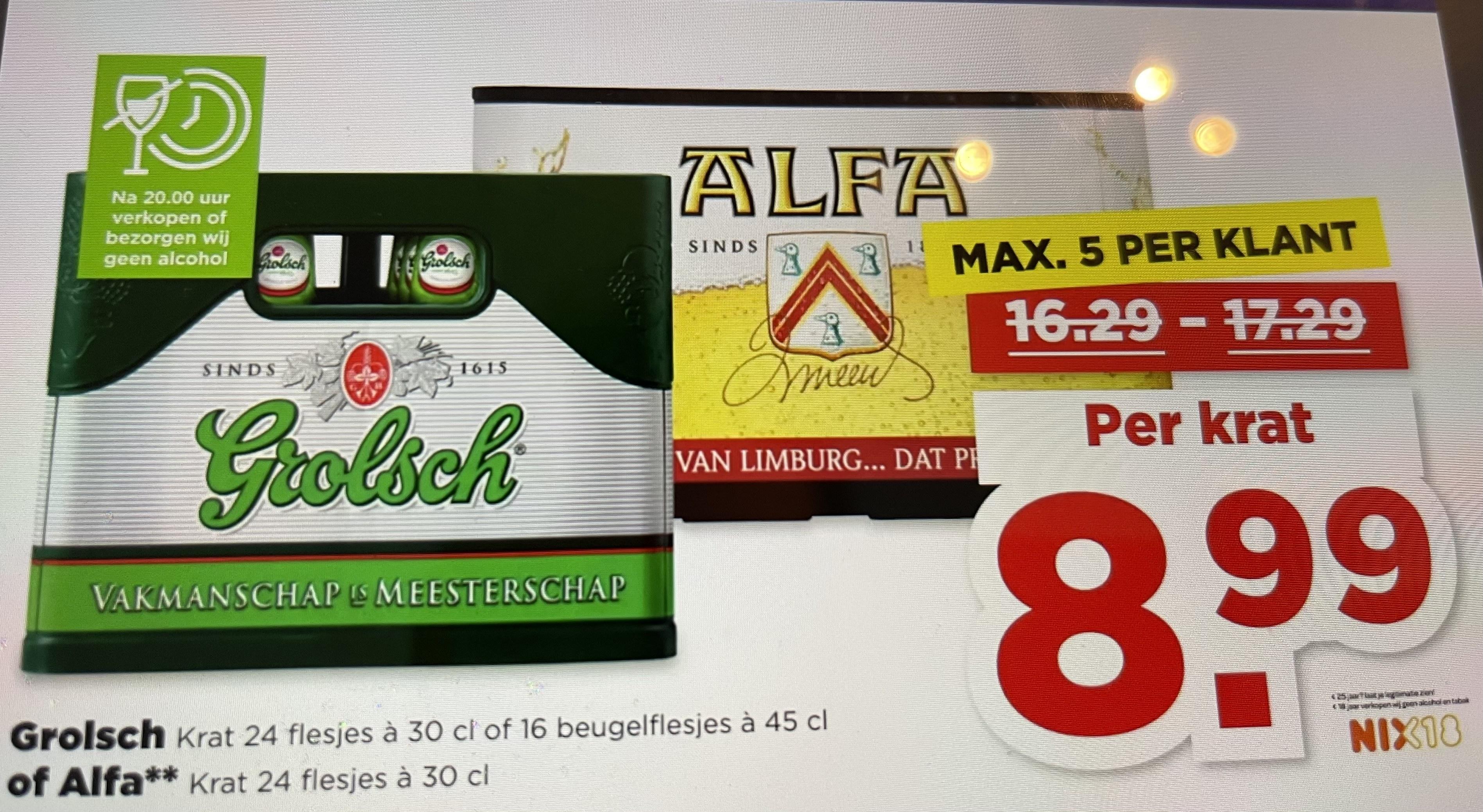 Alfa pils krat 24 flesjes