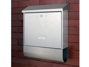 Burg-wächter RVS brievenbus met afsluitbaar uitneemvak met cilinderslot, krantenbox en 2 sleutels voor €39,99 @ Lidl-shop