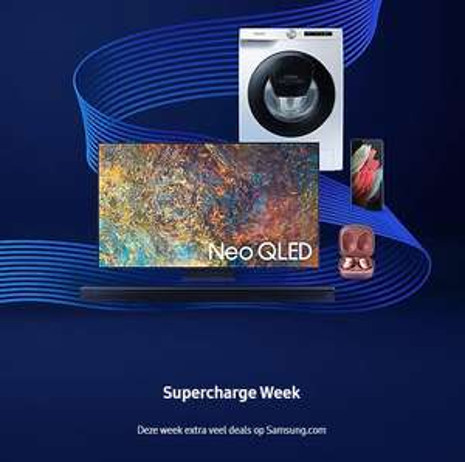 Samsung Supercharge Week aanbiedingen met o.a. Samsung Galaxy S21 (Ultra) en wasmachines/drogers!