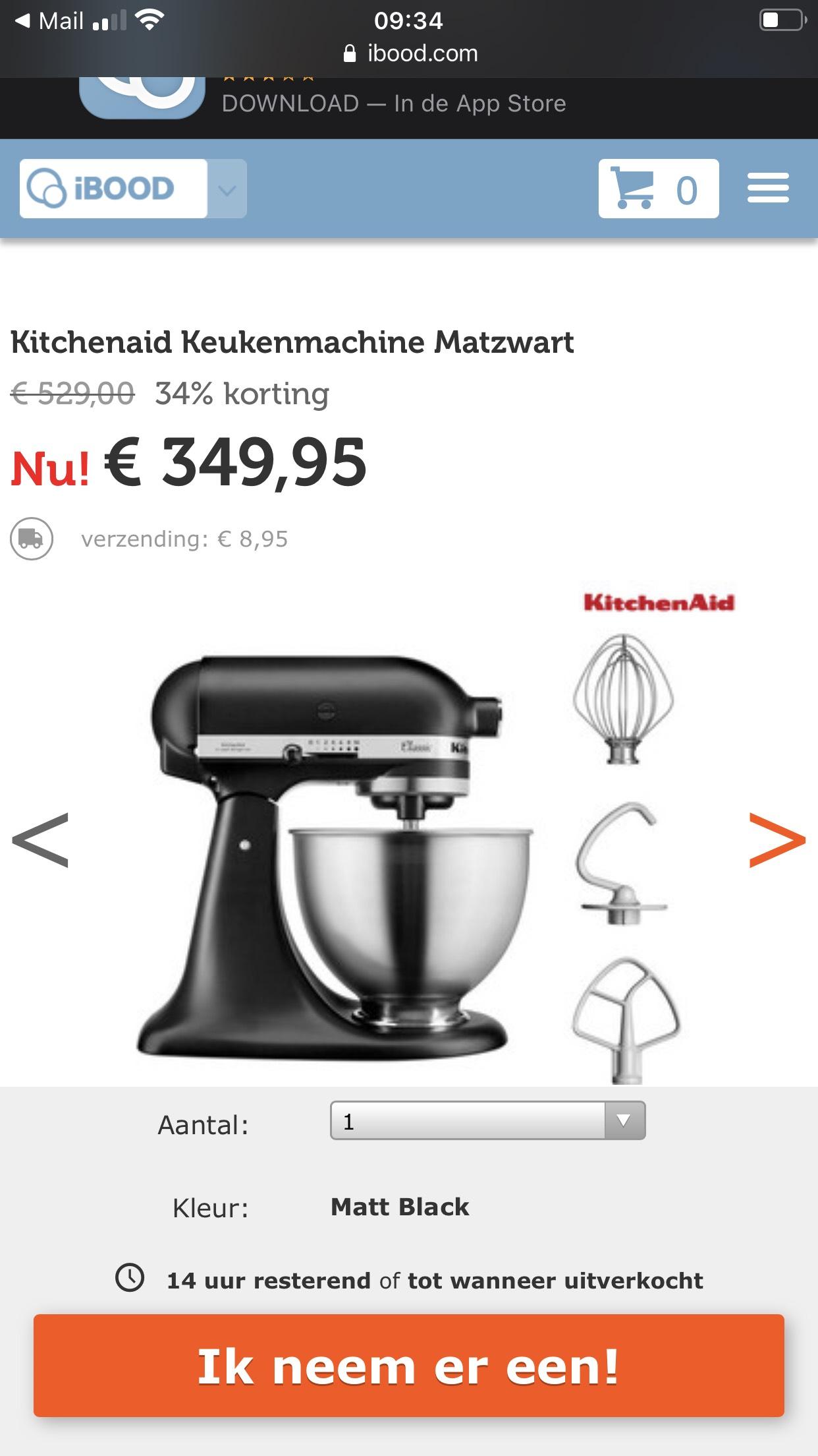 Kitchenaid Keukenmachine Matzwart
