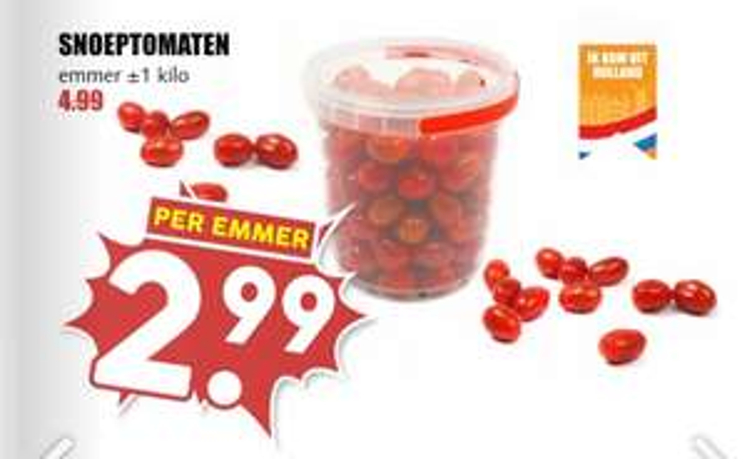 Kilo snoep tomaatjes €2,99 @ MCD Supermarkt
