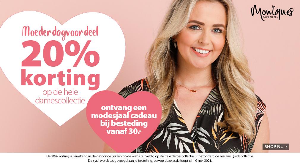 Damescollectie 20% korting + 10% extra met code + gratis shawl [vanaf €30]