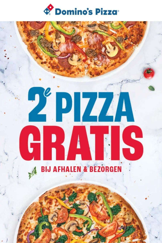 Domino's Elke 2e pizza gratis bij bezorgen & afhalen