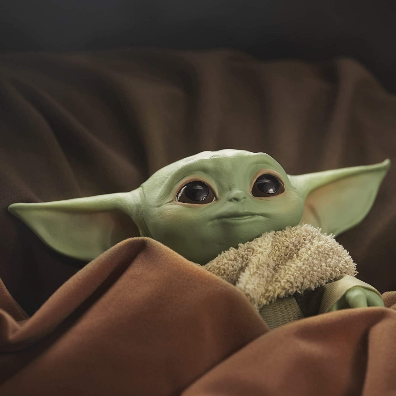 Star Wars: The Child Baby Yoda Mandalorian figuur/knuffel (met geluid)