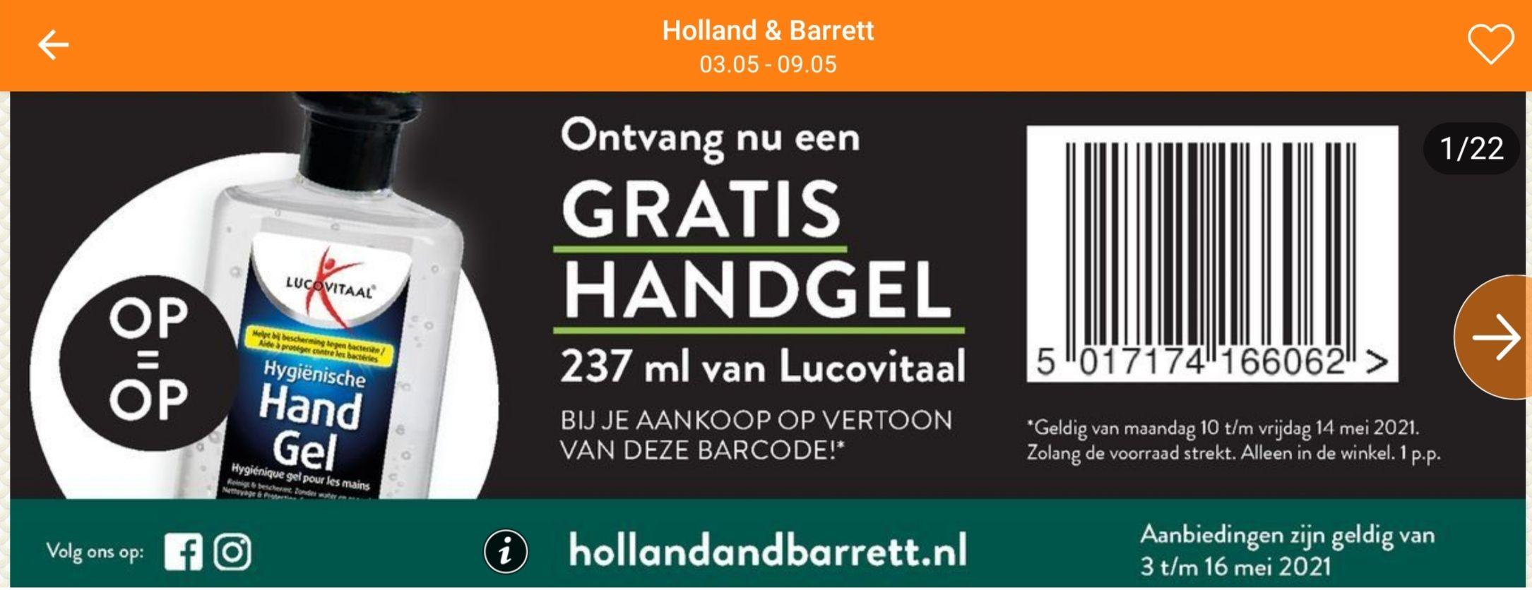 Gratis handgel 237 ml van Lucovitaal @Holland & Barrett