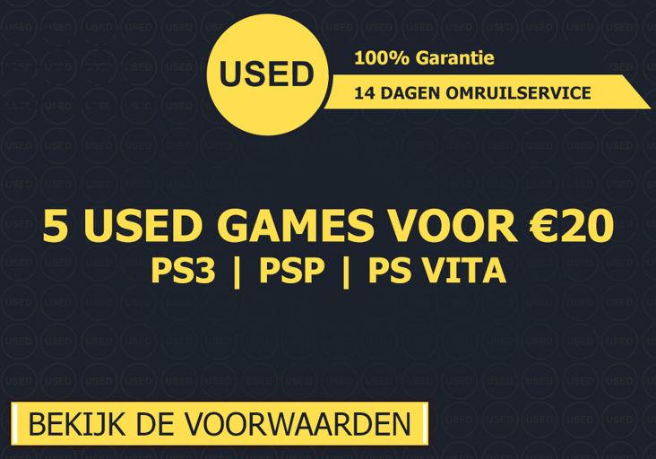 5 USED games (PS3, PSP en PS Vita) voor €20 @ Game Mania
