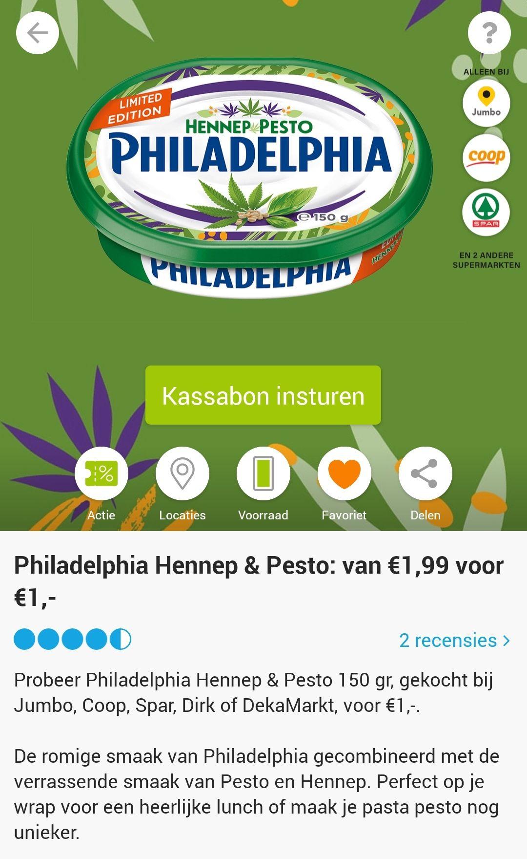 SCOUPY Philadelphia Hennep & Pesto