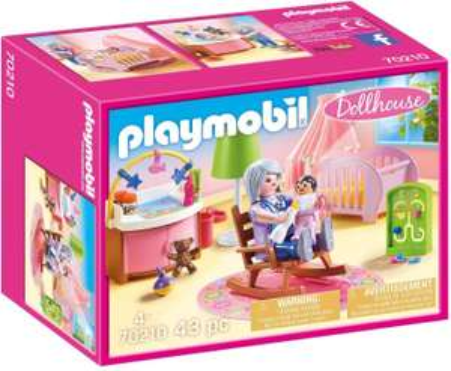 Playmobil Dollhouse 70210 Babykamer, Met 2 figuren en accessoires