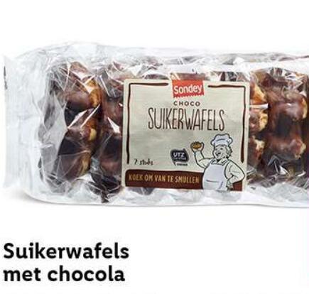 Suikerwafels met chocola met 50% korting @ Lidl met kortingscoupon