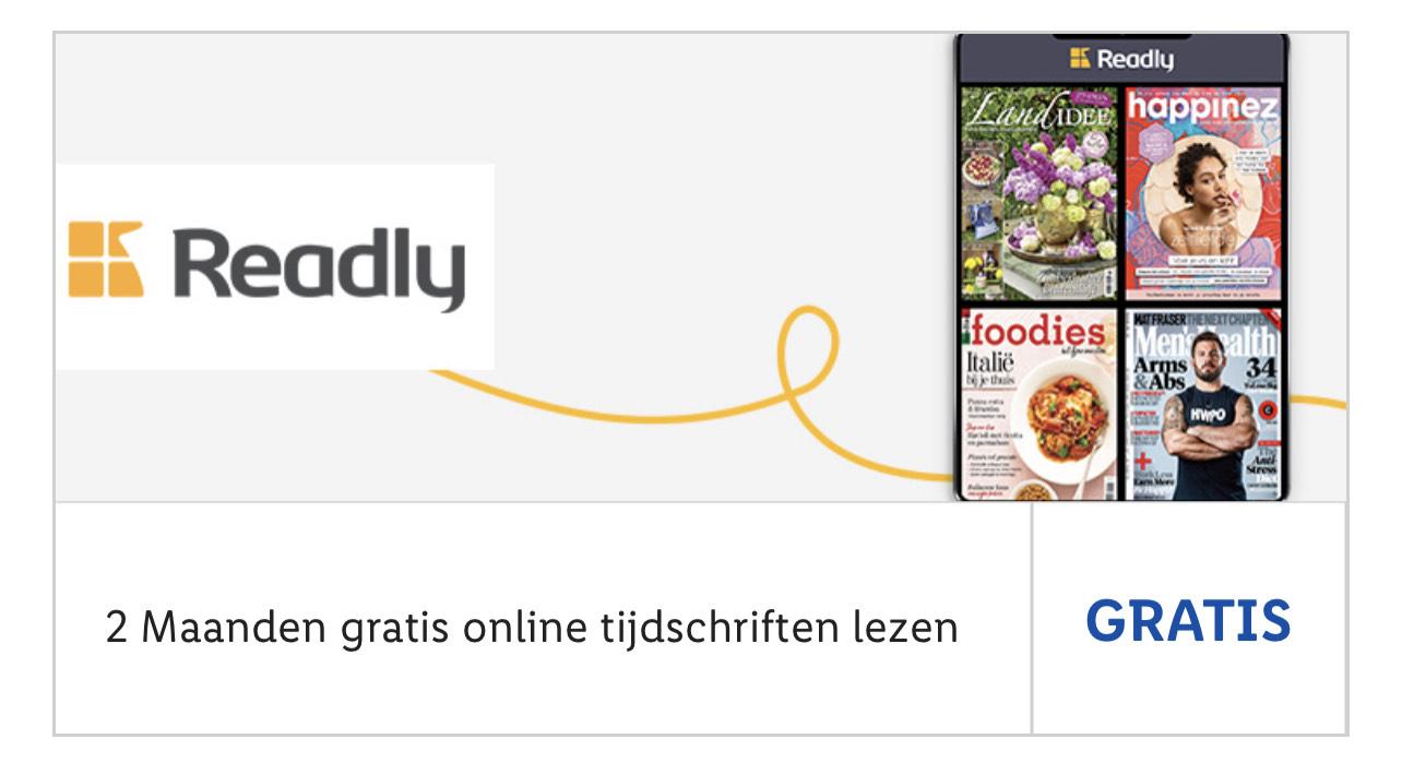 2 maanden gratis Tijdschriften via Lidl app