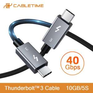 CableTime USB-C naar USB-C PDW100W 40Gbps USB 3.1 [10-daagse levering]