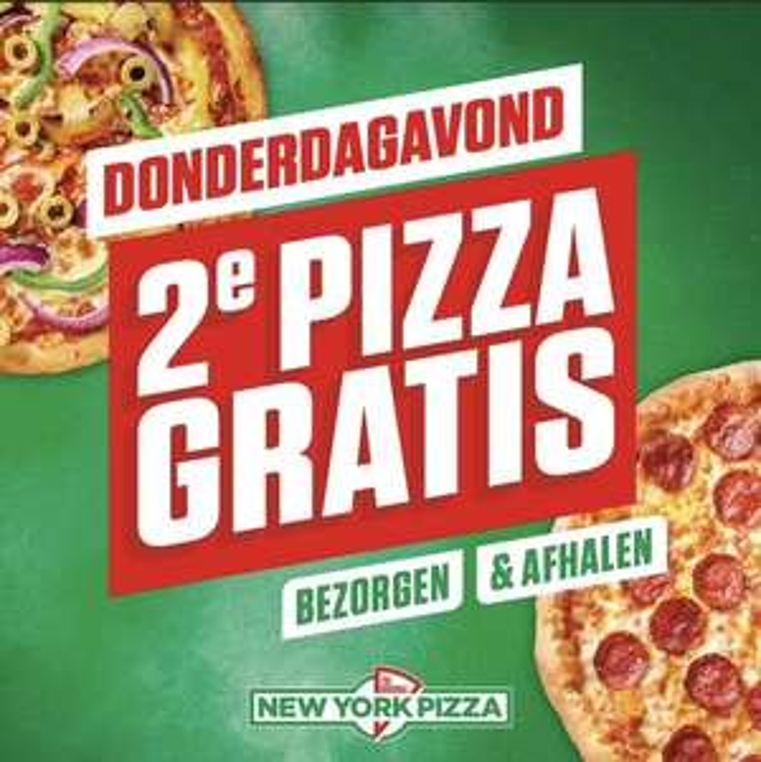 New York Pizza 1+1 Alleen vandaag