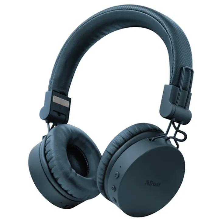 Trust Tones Bluetooth Wireless Headphones (Blauw) @ Belsimpel
