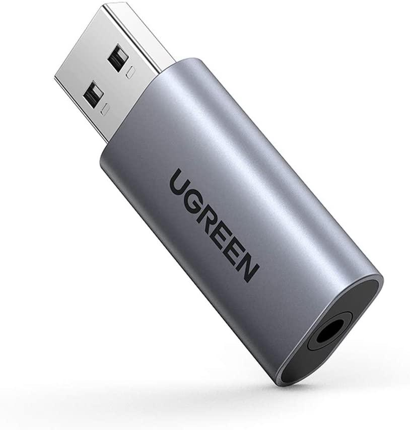 UGREEN USB Externe Geluidskaart USB naar 3,5 mm Jack voor €5,99 @ Amazon.nl