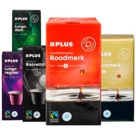 Plus eigen merk Fairtrade snelfilterkoffie of koffiecups voor €0,99 p.s. (twv max €3,29) @ Plus