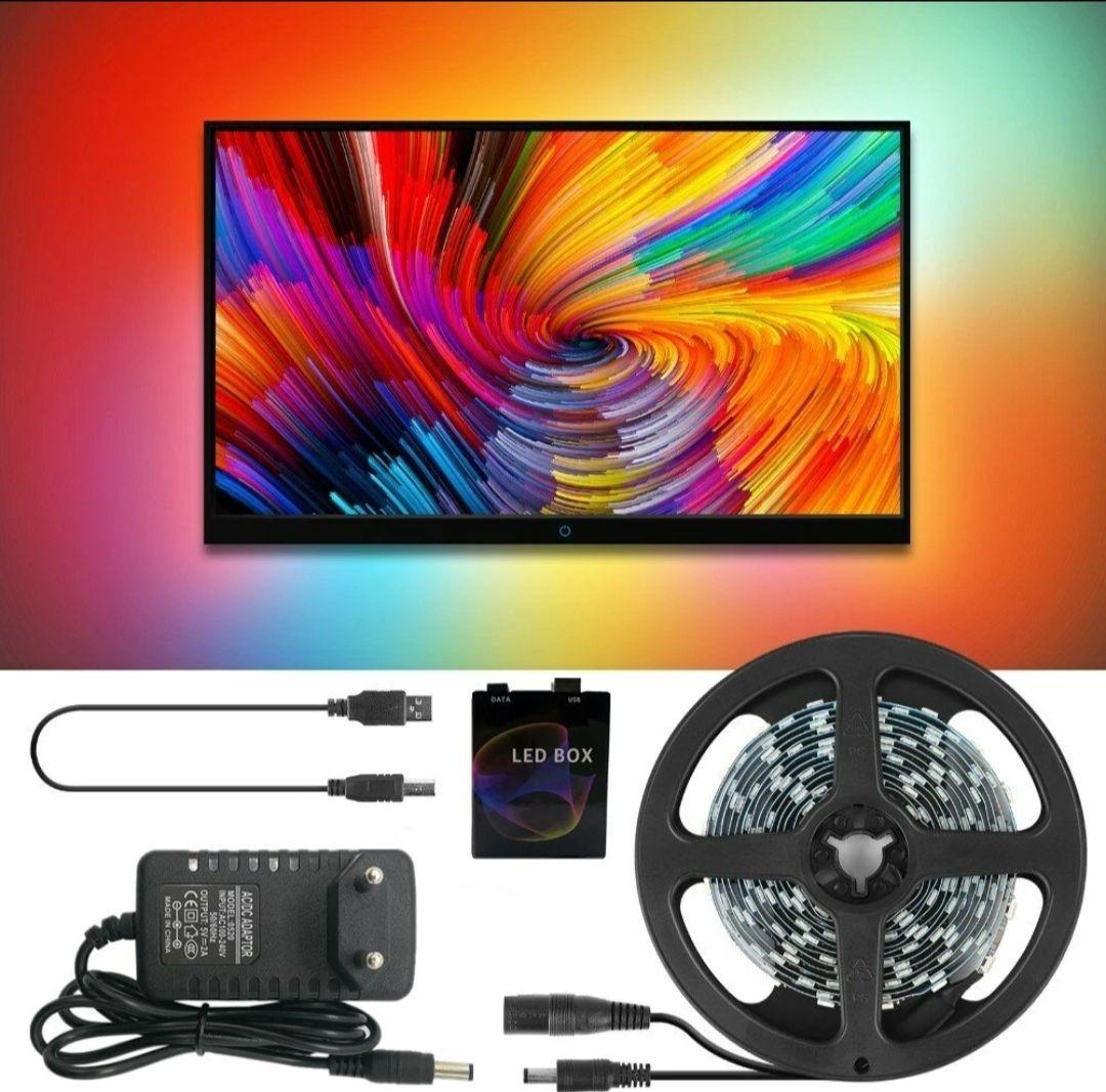 DC5V 2M/3M/4M/5M WS2812B 5050 RGB Dream Color USB APP LED Strip Light for Desktop PC