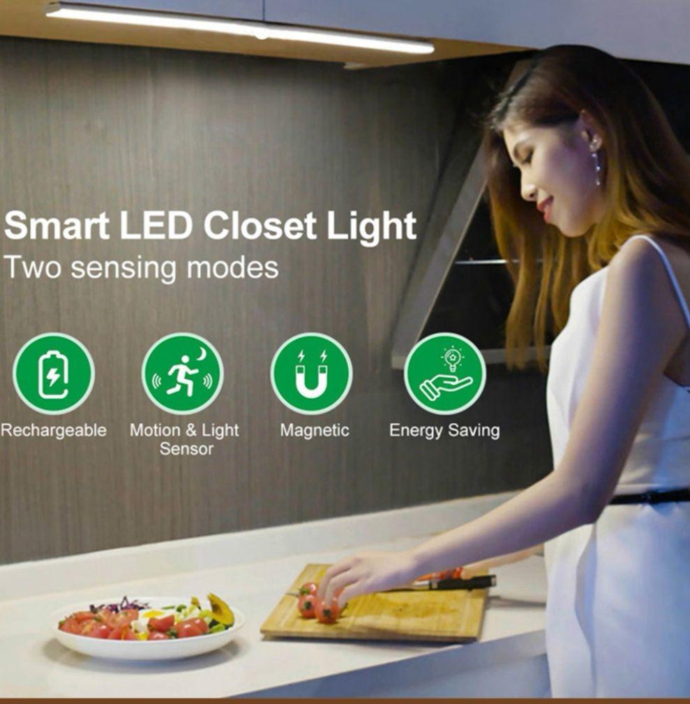Led Lamp usb oplaadbaar 40 of 60 leds bewegingssensor