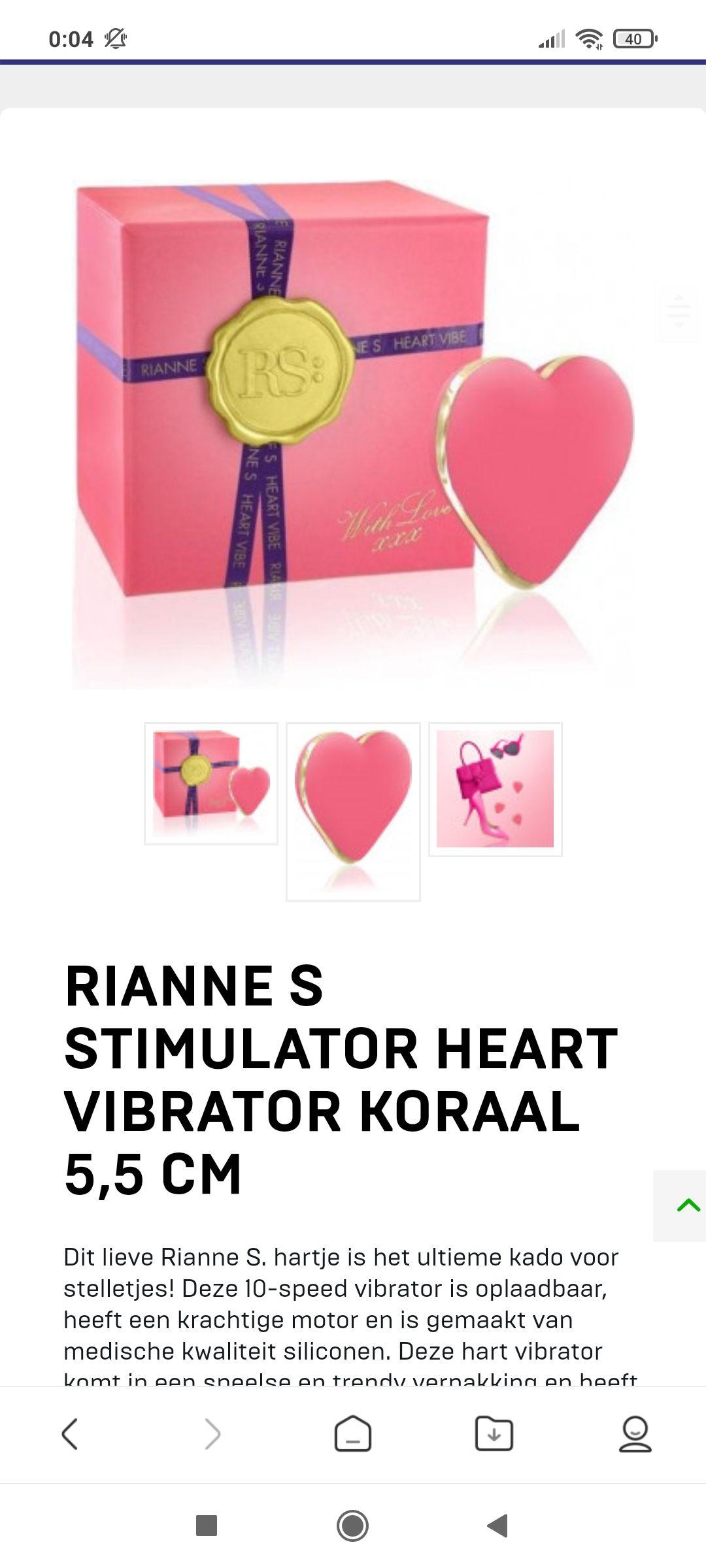Vibrator in vorm van een hart