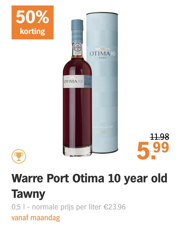 500 mL Warre Port Otima 10y-old Tawny [vanaf maandag!]