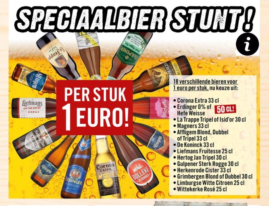 Speciaal bier €1 bij dirk III