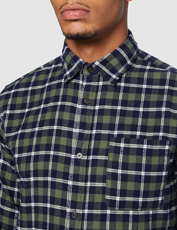 JACK & JONES mens shirt JJPLAIN PRE CHECK SHIRT LS