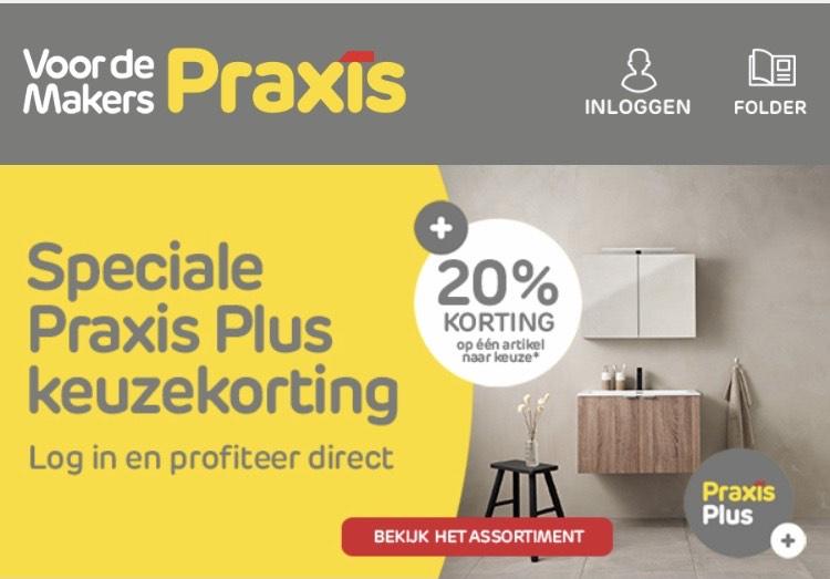 20% keuze korting Praxis met Praxis Plus
