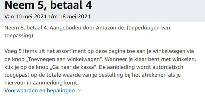 Koop 5 betaal 4 op Amazon.de - bijv. Siroop soda stream